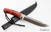 Нож Лиман, сталь 95х18, карельская береза,  элфорин, скрим-шоу - Nozhikov.ru