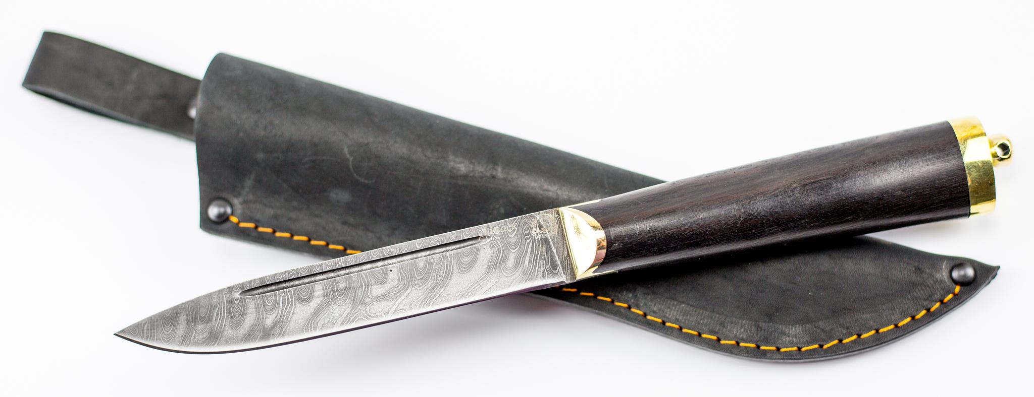 Фото 14 - Нож Абхазский средний, дамаск от Мастерская Сковородихина