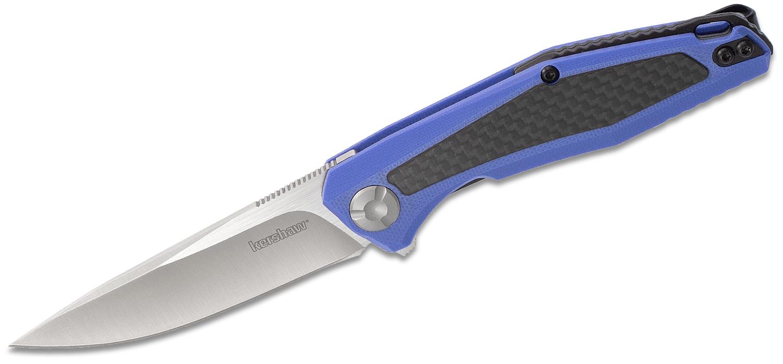 Купить Складной нож Atmos KERSHAW 4037BLU, лезвие сталь 8Cr13MoV, рукоять G10/карбон, синий цвет в России