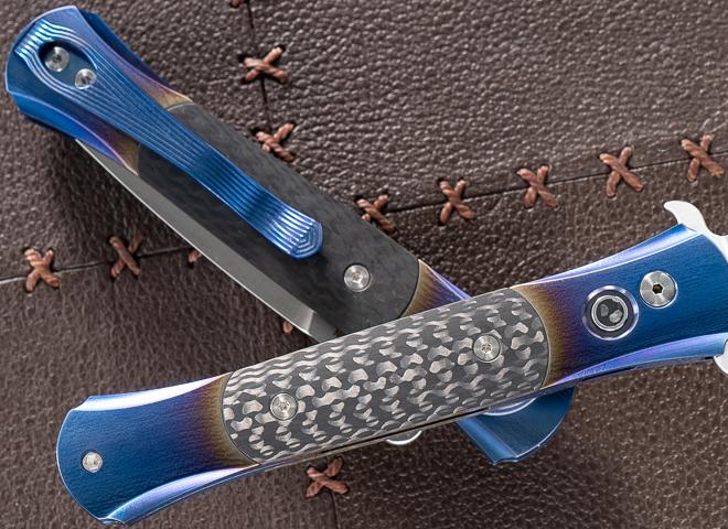 Фото 3 - Автоматический складной нож Pro-Tech The Don Custom, сталь 154CM, рукоять титан/карбон