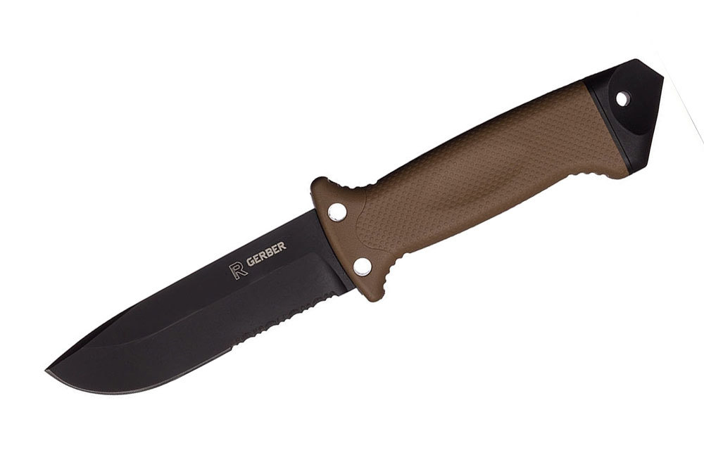 Нож с фиксированным клинком Gerber LMF II Survival - R, сталь 420HC, рукоять термопластик GRN