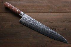 Нож Гранд Шеф 240 мм, Sakai Takayuki, сталь VG-10 Damascus, рукоять махагон, фото 5