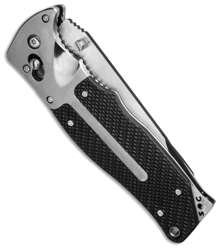 Фото 15 - Складной нож FatCat Limited Edition - SOG FC01, сталь VG-10, рукоять Kraton® (резина)