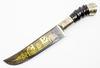 Нож узбекский Коканд, с рукоятью из рога и мельхиора - Nozhikov.ru
