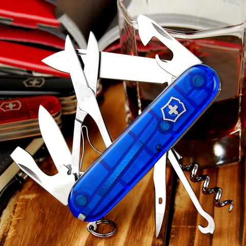Нож перочинный Victorinox Climber, сталь X55CrMo14, рукоять Cellidor®, синий. Вид 6