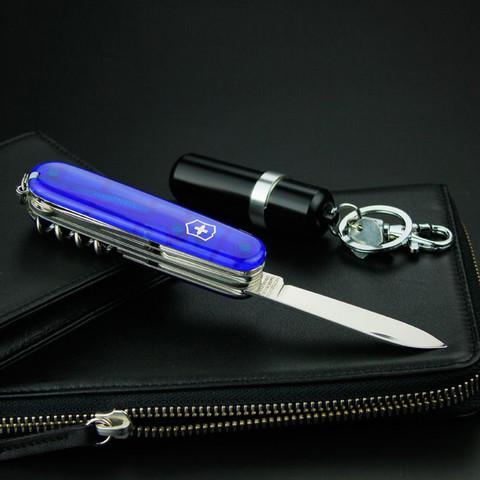 Нож перочинный Victorinox Climber, сталь X55CrMo14, рукоять Cellidor®, синий. Вид 8