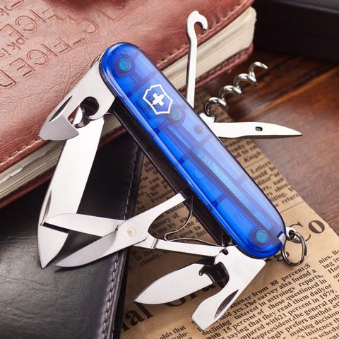 Нож перочинный Victorinox Climber, сталь X55CrMo14, рукоять Cellidor®, синий. Вид 7
