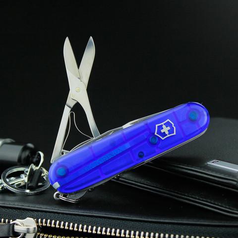 Нож перочинный Victorinox Climber, сталь X55CrMo14, рукоять Cellidor®, синий. Вид 9