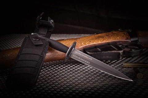 Нож с фиксированным клинком Extrema Ratio E.R. Commando Black, сталь Böhler N690, рукоять алюминий. Вид 6