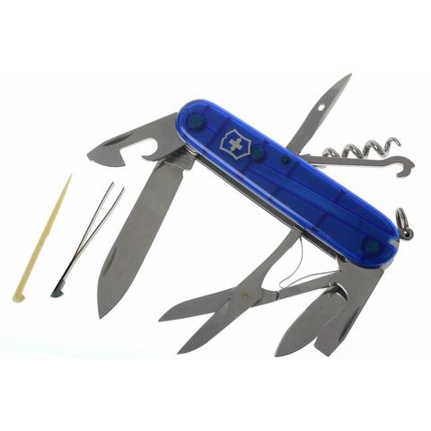 Нож перочинный Victorinox Climber, сталь X55CrMo14, рукоять Cellidor®, синий. Вид 2