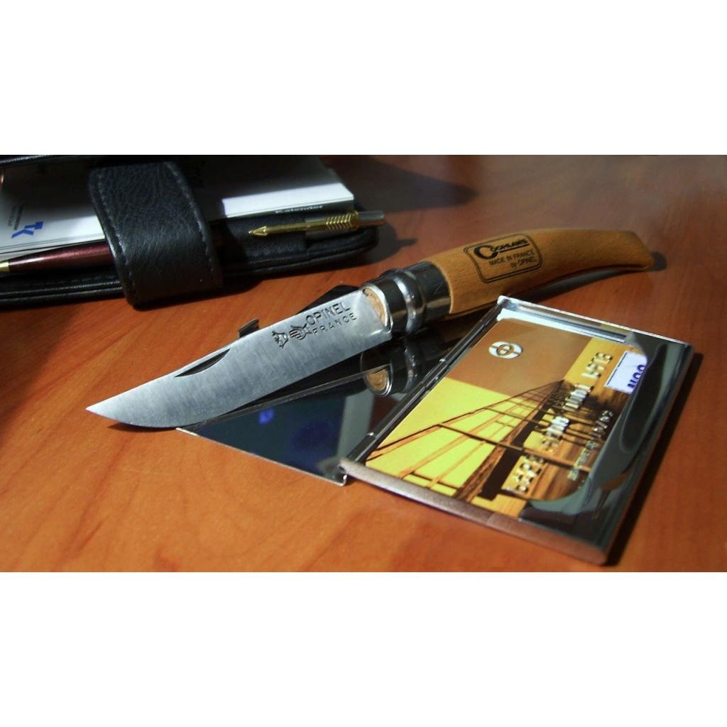 Фото 8 - Нож складной филейный Opinel №8 VRI Folding Slim Beechwood, сталь Sandvik 12C27, рукоять бук, 000516