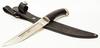 Нож Пластунский 95х18, латунь - Nozhikov.ru