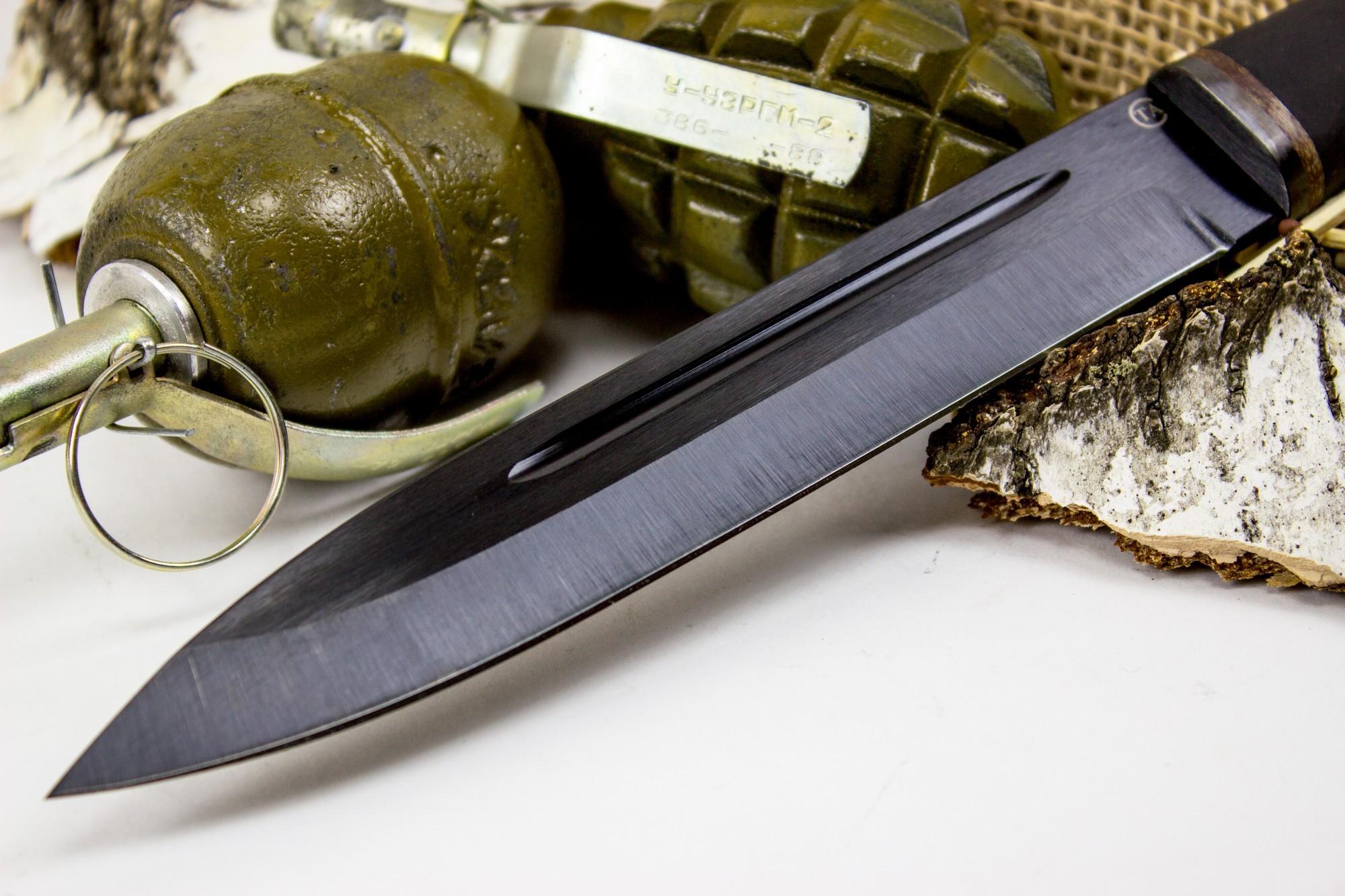 Фото 7 - Нож Горец-2, сталь 65Г, резина от Титов и Солдатова