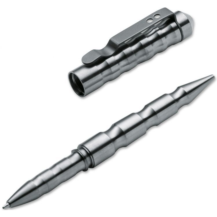 Тактическая ручка MPP Titanium (Multi Purpose Pen Titan), Boker Plus 09BO066, серебристая