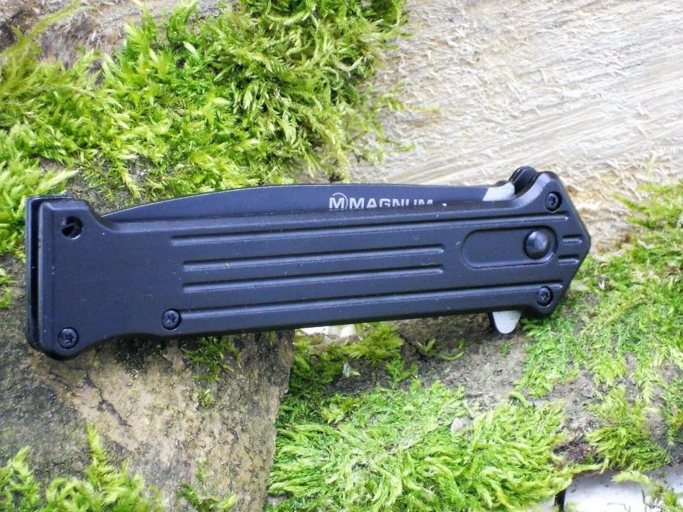 Фото 5 - Складной нож Magnum Intricate - Boker 01LL312, сталь 440A EDP, рукоять анодированный алюминий, чёрный