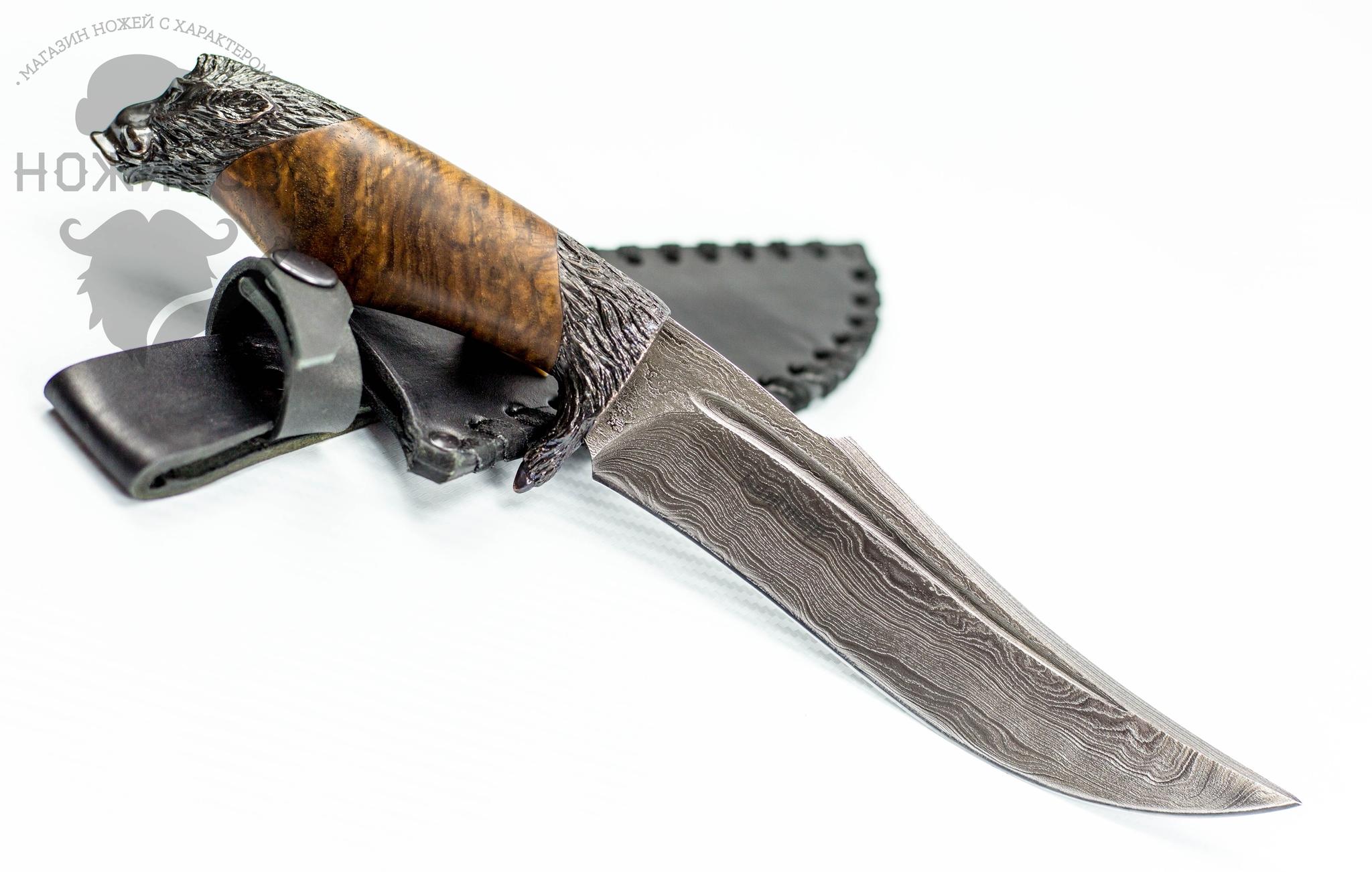 Авторский Нож из Дамаска №52, Кизляр