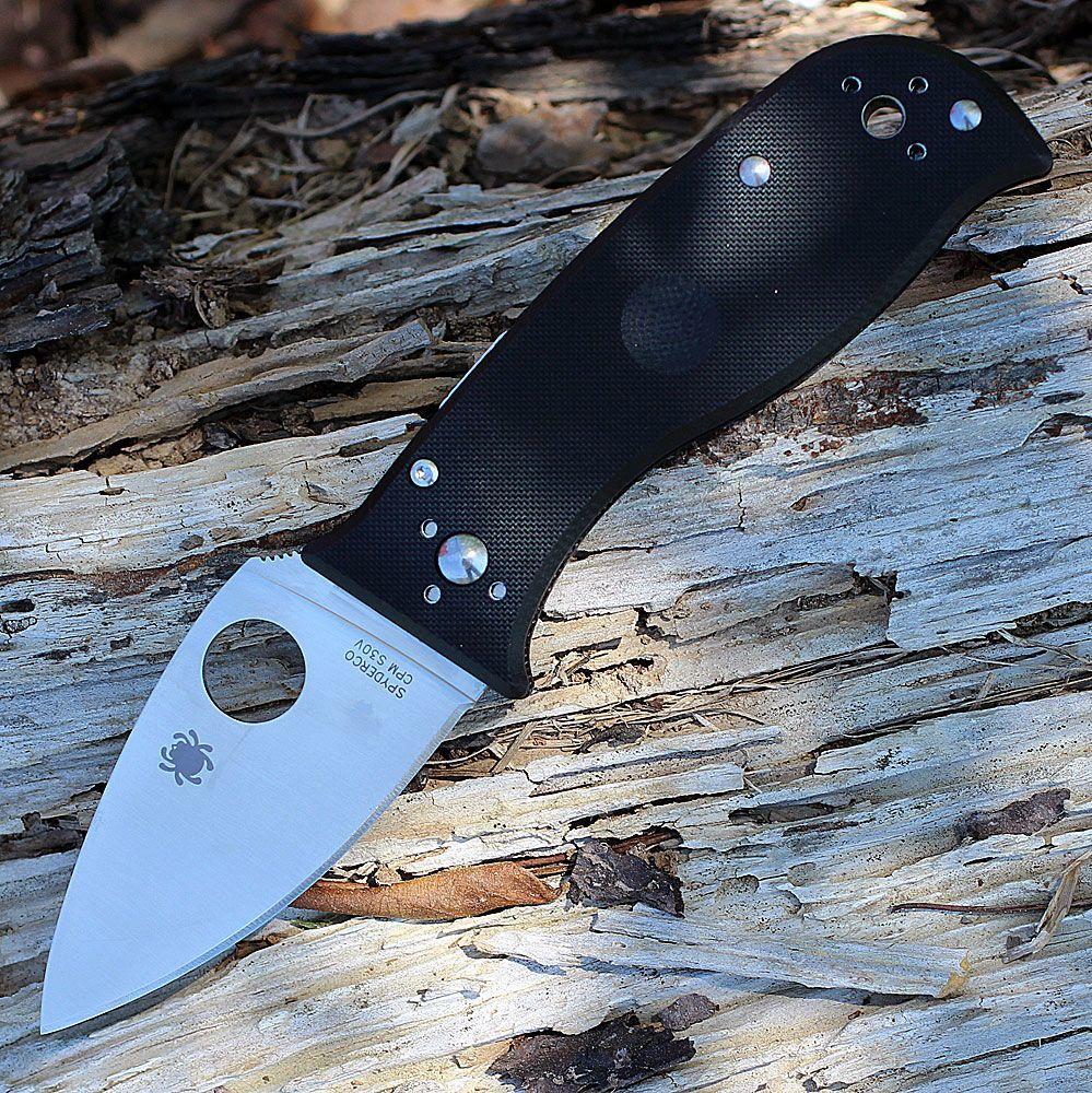 Фото 5 - Нож складной Lil' Temperance 3 - Spyderco 69GP3, сталь Crucible CPM® S30V™ Satin Plain, рукоять стеклотекстолит G10, чёрный