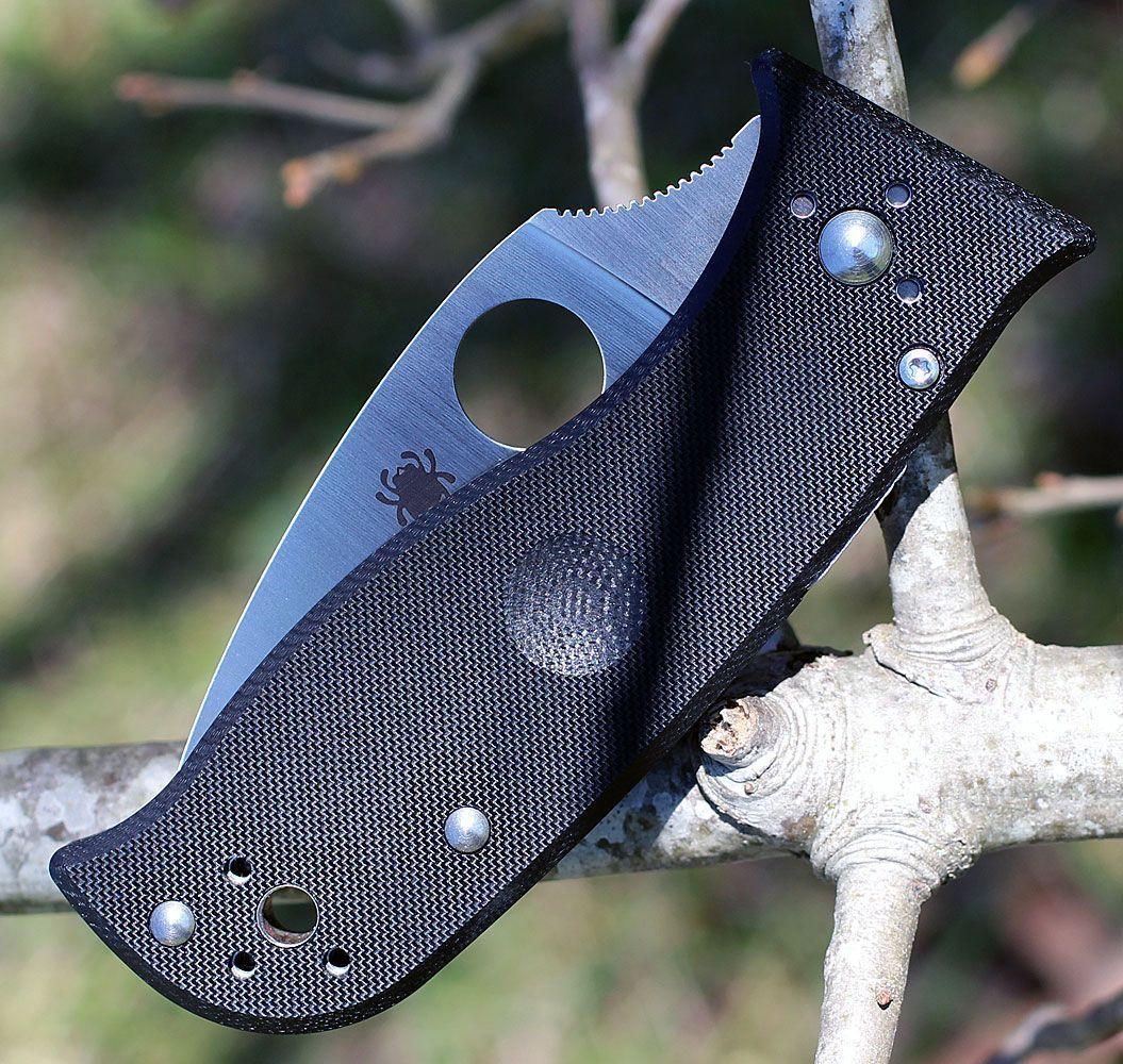 Фото 6 - Нож складной Lil' Temperance 3 - Spyderco 69GP3, сталь Crucible CPM® S30V™ Satin Plain, рукоять стеклотекстолит G10, чёрный