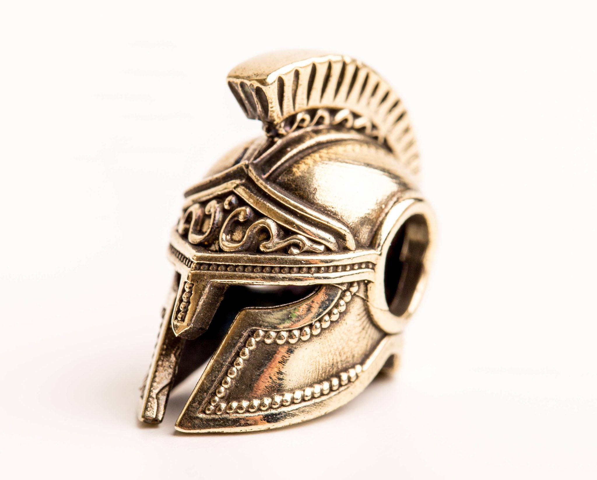 Бусина Спартанский шлем, мельхиор от Replica House