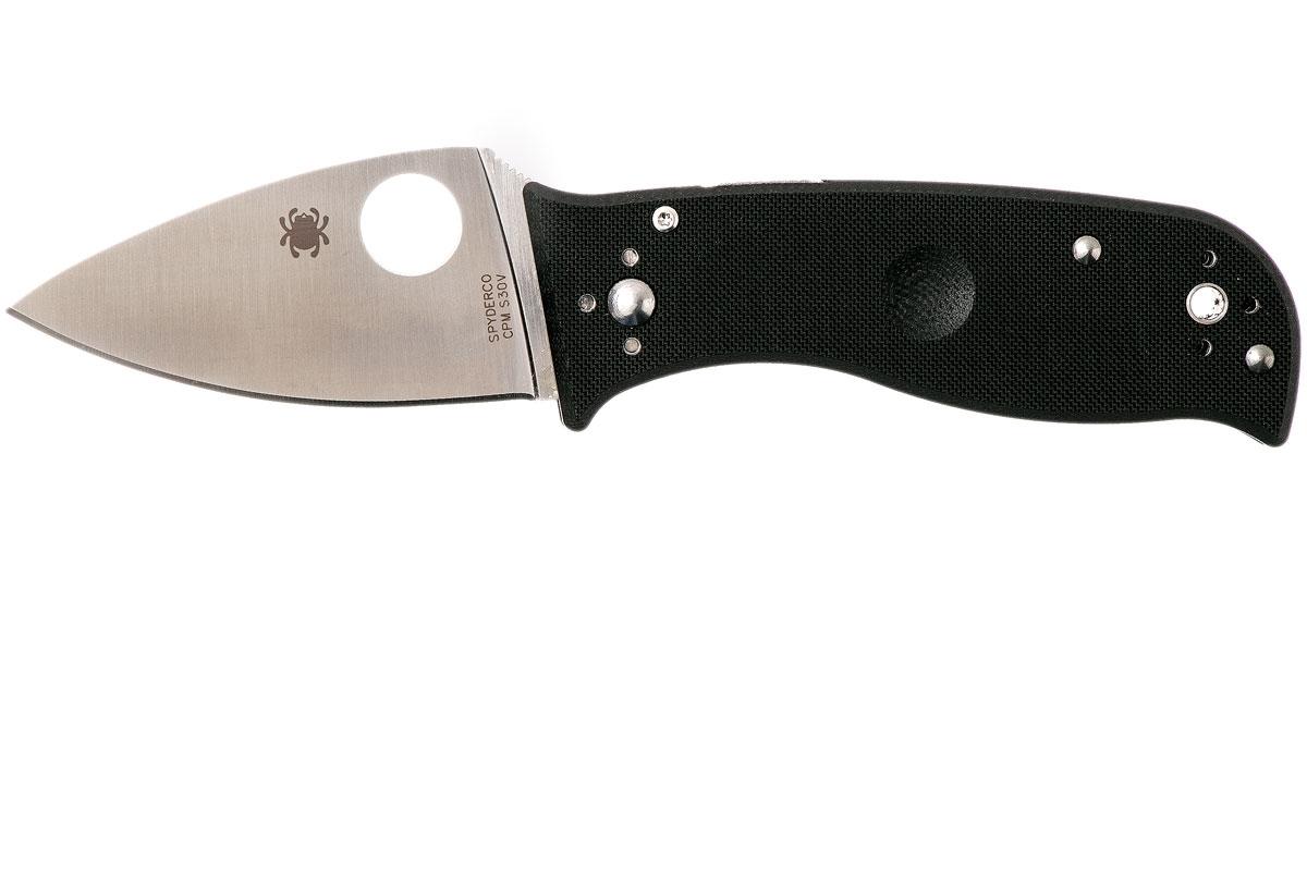 Фото 7 - Нож складной Lil' Temperance 3 - Spyderco 69GP3, сталь Crucible CPM® S30V™ Satin Plain, рукоять стеклотекстолит G10, чёрный