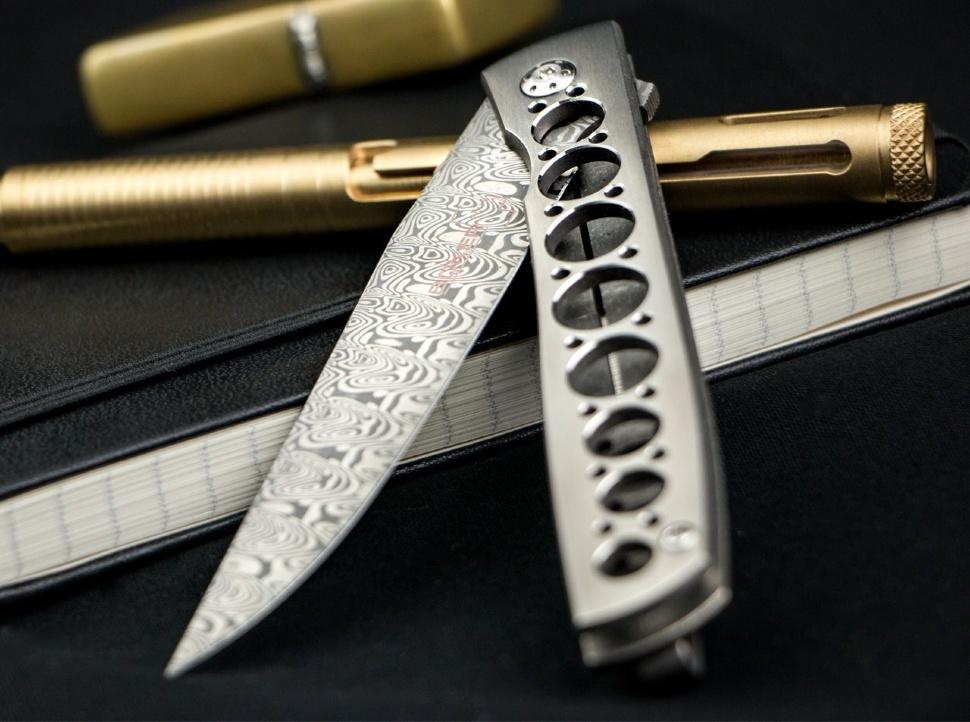 Фото 7 - Складной нож Boker Urban Trapper Damasteel 01BO739DAM, дамасская сталь, рукоять титан