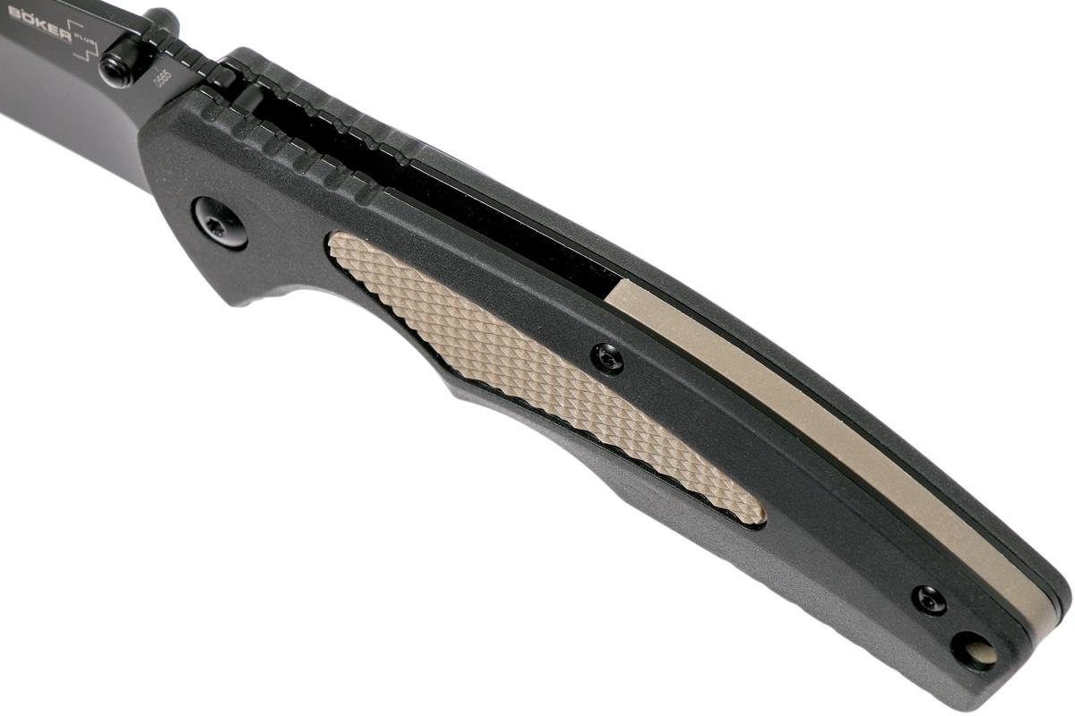 Фото 10 - Полуавтоматический складной нож Boker Plus Gemini NGA BK Coyote, сталь VG-10 Black TiCN Plain, рукоять пластик FRN/кратон