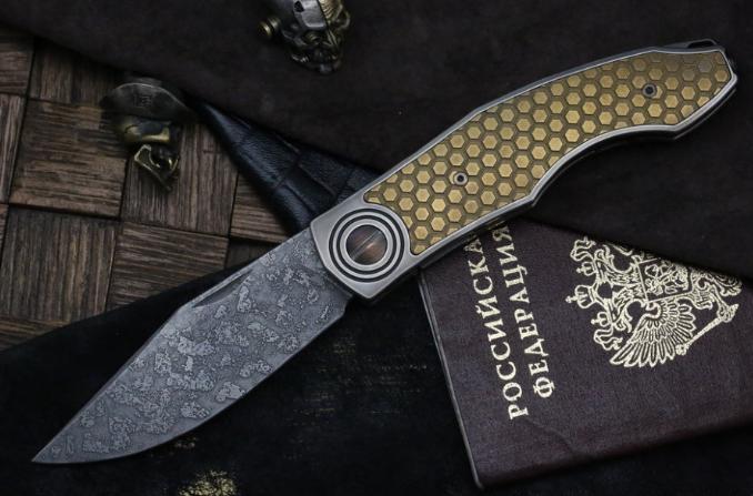 Фото - Складной нож CKF Makosha (Belka) SOT, сталь M390, рукоять Titanium от Custom Knife Factory