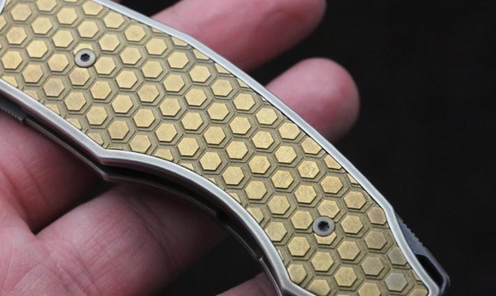 Фото 4 - Складной нож CKF Makosha (Belka) SOT, сталь M390, рукоять Titanium от Custom Knife Factory