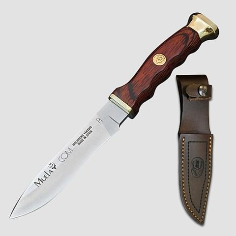 Нож с фиксированным клинком Muela Comf, сталь X50CrMoV15, рукоять Pakka Wood, коричневый. Вид 5