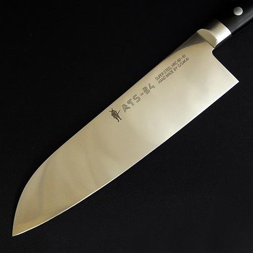Фото 5 - Кухонный нож G.Sakai, Santoku, 10813, сталь ATS-34, в подарочной упаковке