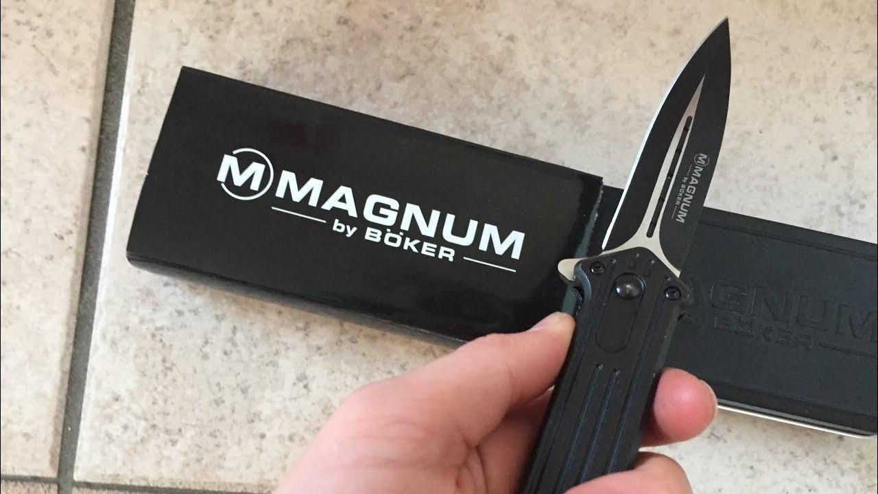 Фото 7 - Складной нож Magnum Intricate - Boker 01LL312, сталь 440A EDP, рукоять анодированный алюминий, чёрный