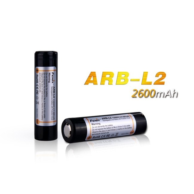 Аккумулятор 18650 Fenix 2600 mAh аккумулятор fenix 10180 80mah arb l10 80