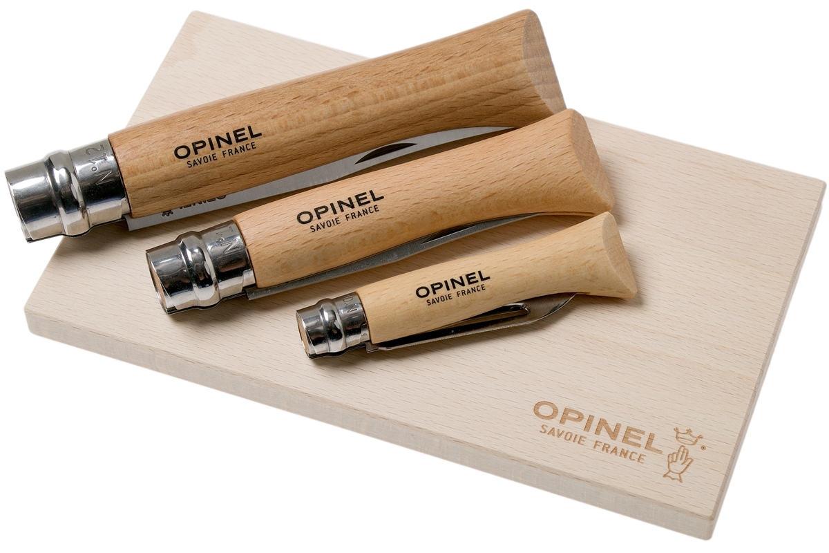 Фото 9 - Набор 3-x складных ножей Opinel Nomad Cooking Kit, сталь Sandvik 12C27, рукоять бук, 002177