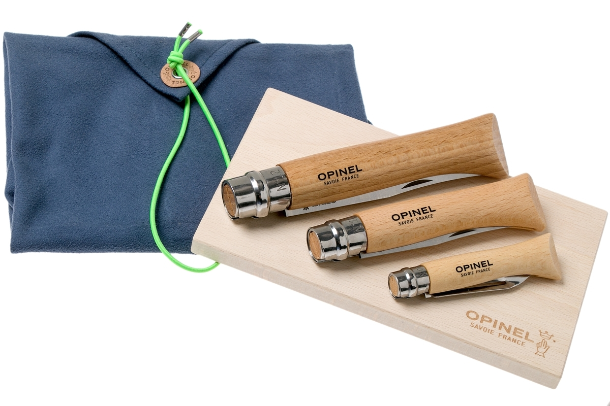 Фото 10 - Набор 3-x складных ножей Opinel Nomad Cooking Kit, сталь Sandvik 12C27, рукоять бук, 002177