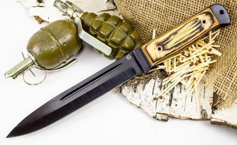 Нож Горец-2, сталь 65Г, бакелитовая фанера - Nozhikov.ru