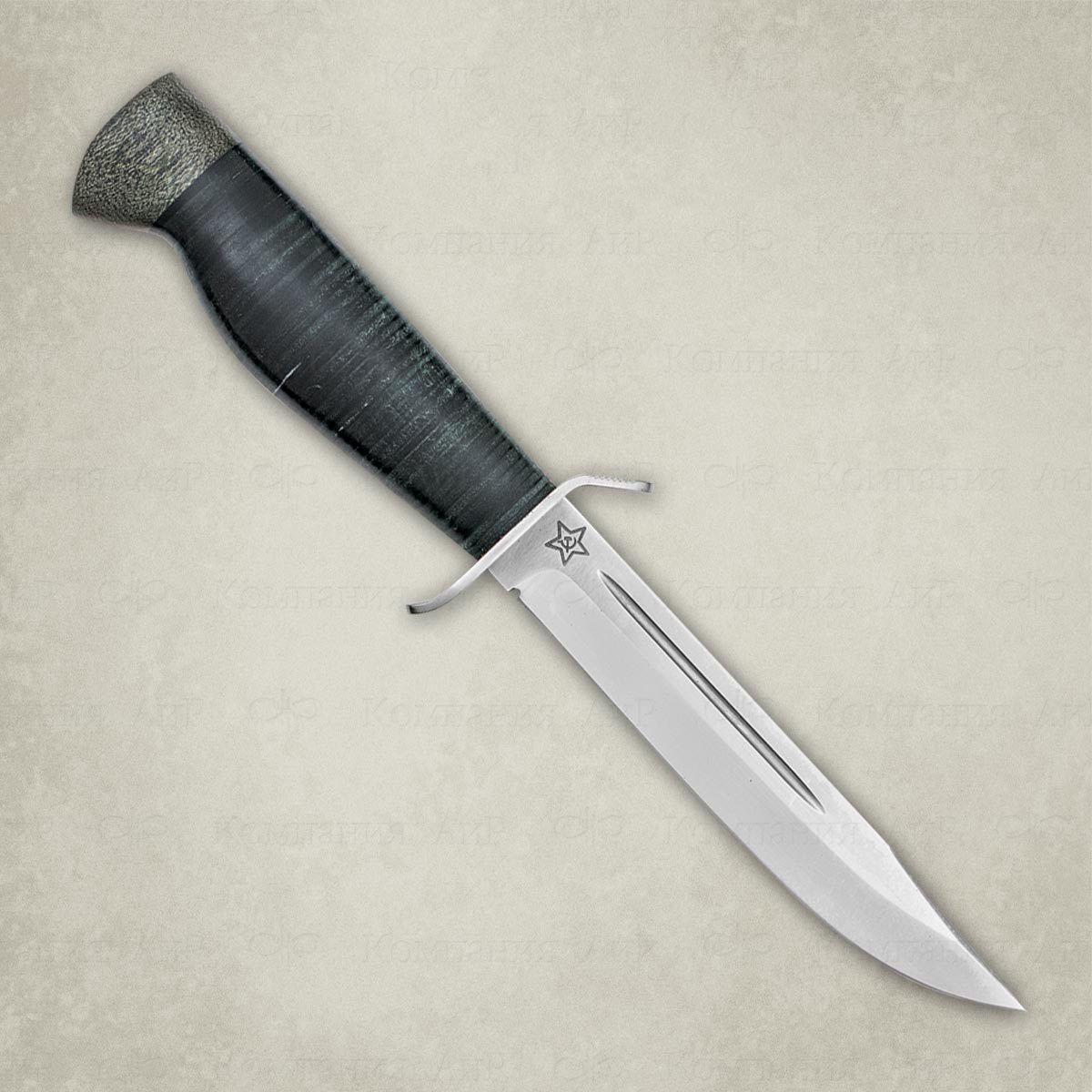 Нож разделочный АиР Штрафбат, сталь Elmax, рукоять кожа