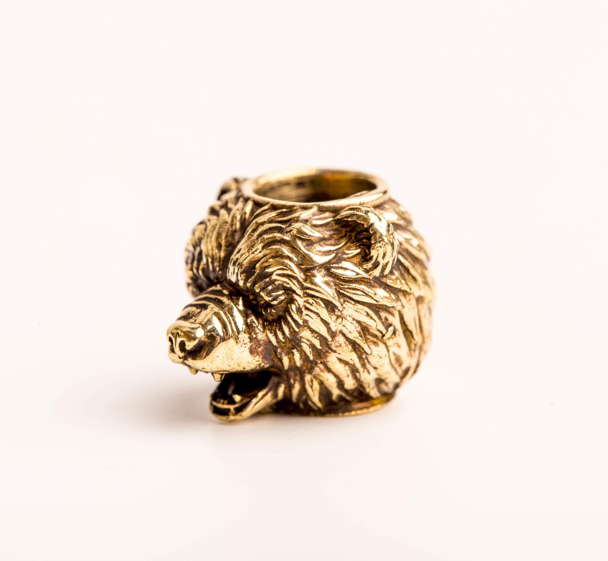 Бусина Медведь, бронза от Replica House