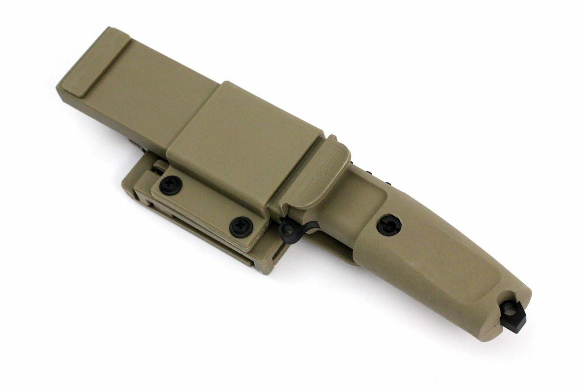 Фото 6 - Нож с фиксированным клинком Extrema Ratio Shrapnel OG Desert Warfare - Laser Engraving, сталь Bhler N690, рукоять пластик