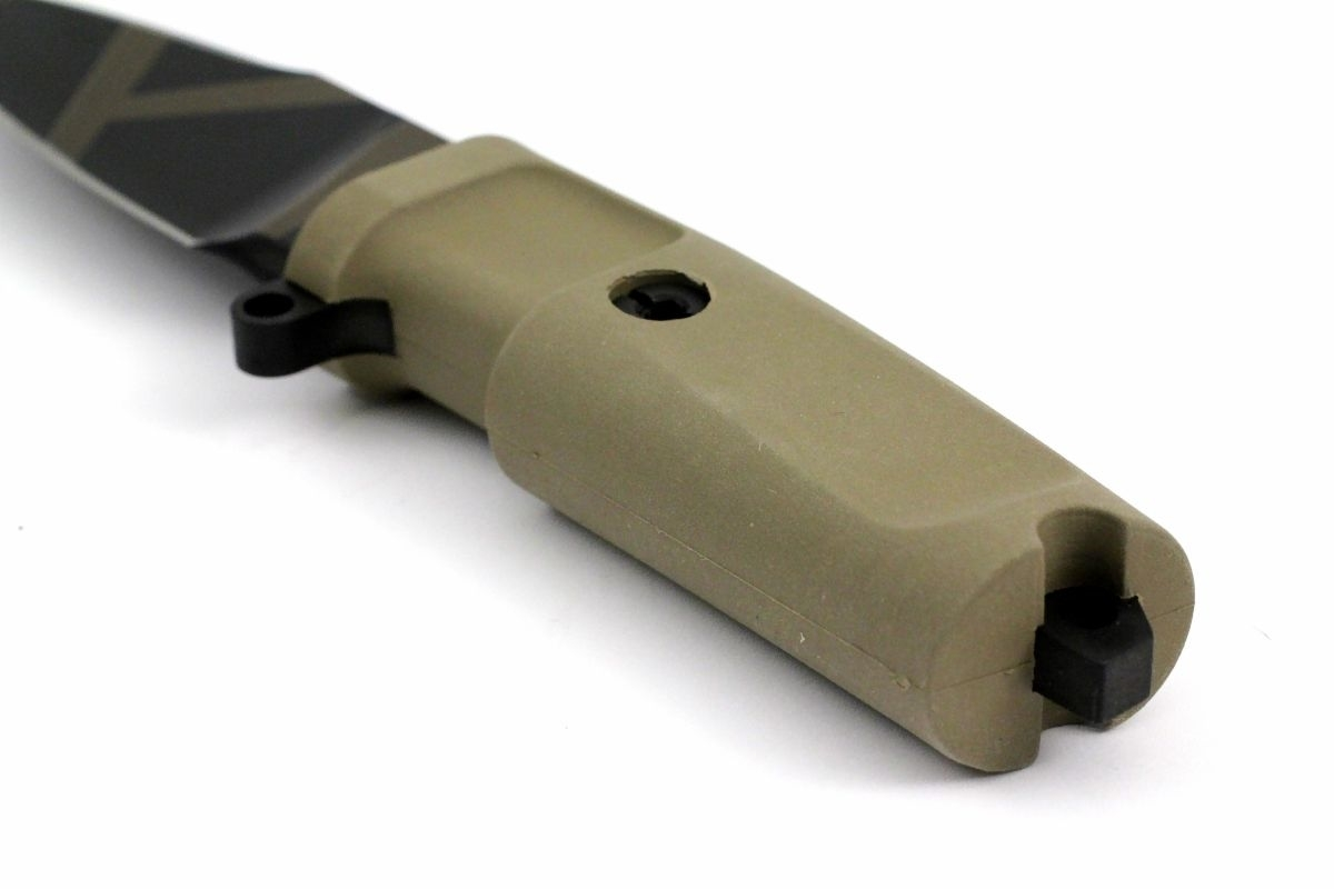Фото 7 - Нож с фиксированным клинком Extrema Ratio Shrapnel OG Desert Warfare - Laser Engraving, сталь Bhler N690, рукоять пластик