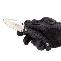 Складной туристический нож Fox Blackfox, сталь 440А, рукоять термопластик GRN, чёрный, фото 3