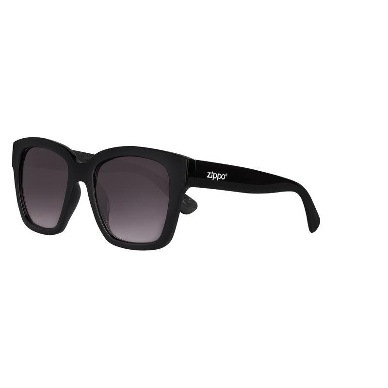 Фото - Очки солнцезащитные ZIPPO OB92-02, унисекс, чёрные, оправа из поликарбоната очки солнцезащитные zippo ob70 01 унисекс чёрные оправа из поликарбоната
