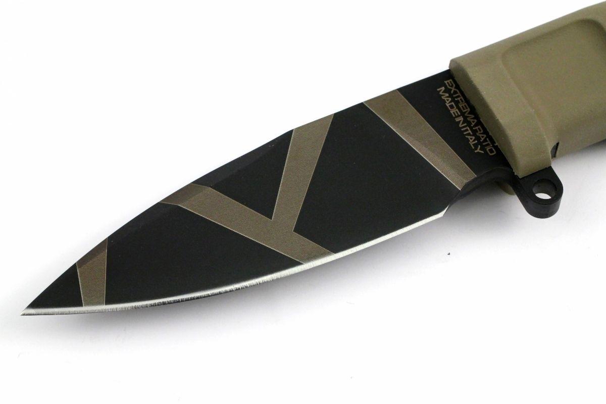 Фото 9 - Нож с фиксированным клинком Extrema Ratio Shrapnel OG Desert Warfare - Laser Engraving, сталь Bhler N690, рукоять пластик