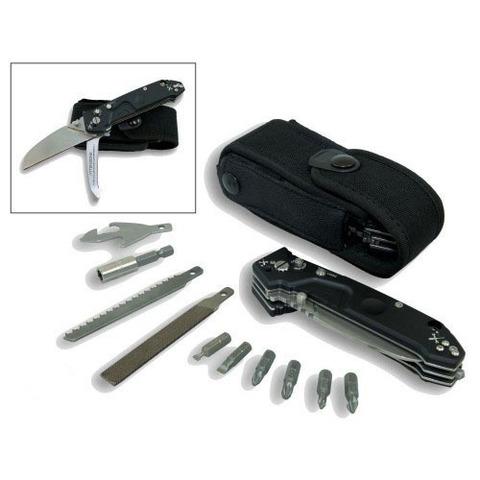 Многофункциональный складной нож с выкидным стропорезом Extrema Ratio Police EVO, сталь Böhler N690, рукоять алюминий. Вид 1