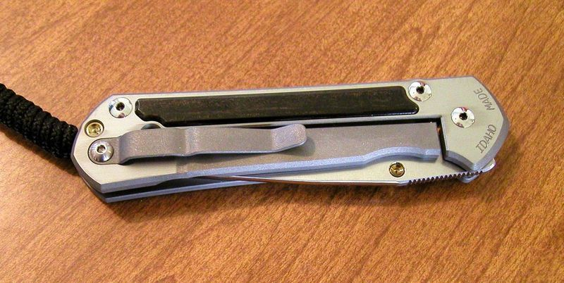 Фото 7 - Нож складной Large Sebenza 21 Gabon Ebony Inlay от Chris Reeve
