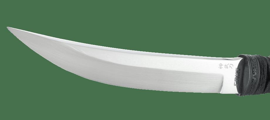 Фото 12 - Нож с фиксированным клинком CRKT Shinbu, сталь YK-30, рукоять кожа/паракорд