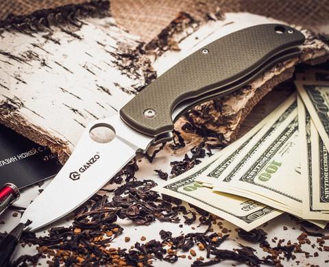 Складной нож Ganzo G734, зеленый