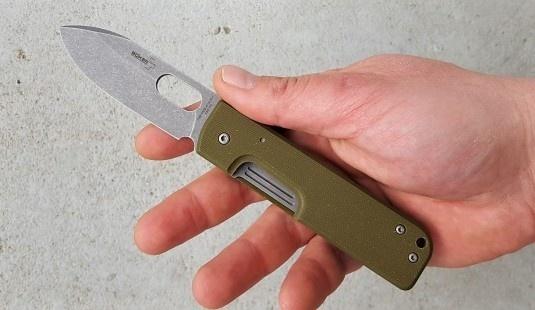 Фото 8 - Нож складной Lancer by Serge Panchenko - Boker Plus 01BO064, сталь 440C Stonewahed, рукоять стеклотекстолит G10, зелёный