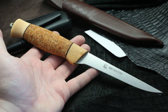 Нож с фиксированным клинком Brusletto Fiskern, сталь 440C, рукоять пробковое дерево/береза, фото 4