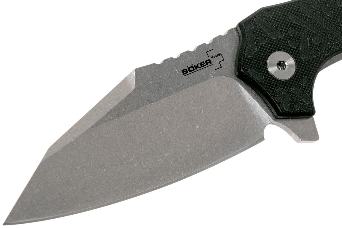 Фото 11 - Складной нож Boker Plus CFM-A1 Designed by DJ Urbanovsky, cталь Sandvik 14C28N Stonewashed Plain, рукоять стеклотекстолит G10/нержавеющая сталь, 01BO766