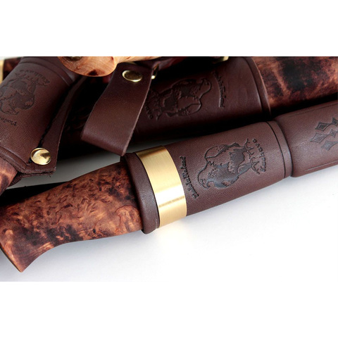 Нож Ahti Puukko Vaara 97, финская береза, сталь W75. Вид 2